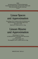 Linear Spaces and Approximation   Lineare R  ume und Approximation