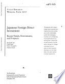 Japanese Foreign Direct Investment