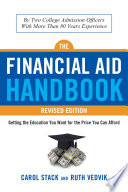 Financial Aid Handbook  Revised Edition Book