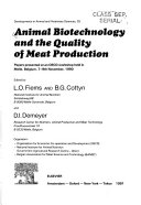 Animal Biotechnology and the Quality of Meat Production