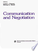 Communication and Negotiation