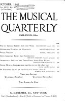 The Musical Quarterly