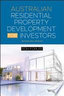 Cover of Australian Residential Property Development for Investors