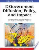 E Government Diffusion Policy And Impact Advanced Issues And Practices