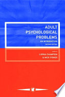 Adult Psychological Problems Book