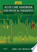 Acute Care Handbook For Physical Therapists E Book Book PDF