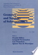 Geometry And Topology Of Submanifolds V   Proceedings Of The Conferences On Differential Geometry And Vision   Theory Of Submanifolds Book
