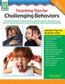Teaching Tips for Challenging Behaviors, Grades PK - 2 Book