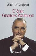 Pdf C'était Georges Pompidou Telecharger