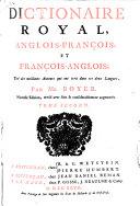 Dictionaire royal, François-Anglois, et Anglois-François; ebook