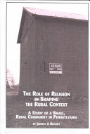 The Role of Religion in Shaping the Rural Context
