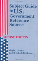 Subject Guide to U.S. Government Reference Sources