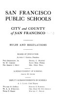 San Francisco Public Schools  City and County of San Francisco Rules and Regulations