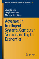 Advances in Intelligent Systems  Computer Science and Digital Economics