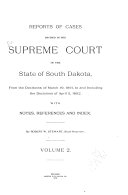 Reports of Cases Decided in the Supreme Court of the State of South Dakota