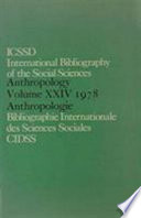 Ibss Anthropology 1978