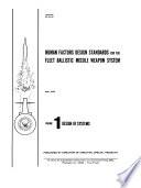 Human Factors Design Standards for the Fleet Ballistic Missile Weaponssystem
