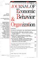 Journal of Economic Behavior   Organization