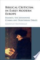 Biblical Criticism in Early Modern Europe