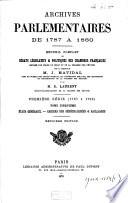 Archives parlementaires de 1787 à 1860
