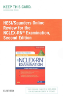Hesi/Saunders Online Review for the NCLEX-RN Examination Access Code