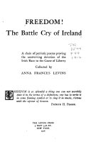 Freedom  The Battle Cry of Ireland Book PDF