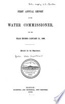Annual Report of the Water Commissioners