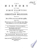History of the First Planting of the Christian Religion