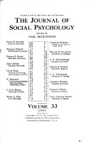The Journal Of Social Psychology Book PDF