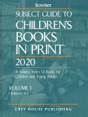 Subject Guide To Children S Books In Print 2020 0