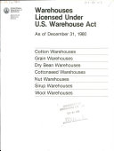 Pdf Warehouses Licensed Under U.S. Warehouse Act as of ...