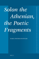 Solon the Athenian, the Poetic Fragments