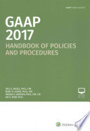 GAAP Handbook of Policies and Procedures (2017)
