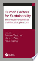 Human Factors for Sustainability Book