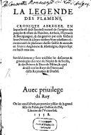 La Legende des Flamens, Artisiens et Haynuyers
