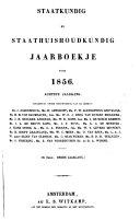 Staatkundig en staathuishoudkundig jaarboekje