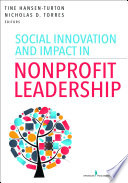 Social Innovation and Impact in Nonprofit Leadership Book PDF