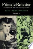 Primate Behavior Book