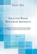 Selected Water Resources Abstracts Vol 11