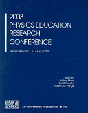 2003 Physics Education Research Conference