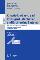 Knowledge-Based and Intelligent Information and Engineering Systems [Pdf/ePub] eBook