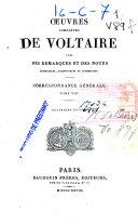 Oeuvres complètes de Voltaire: (627 p.)