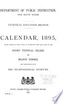 Calendar Giving Details of the Course of Instruction for Each Class in the Sydney Technical College