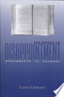 Read Online The Poetics of Disappointment For Free