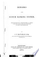 Remarks On The Scotch Banking System