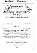 Proceedings, American Philosophical Society (vol. 117, No. 3, 1973) Pdf/ePub eBook