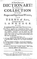 A New English Dictionary ... The Fourth Edition, Carefully Revised ... By J. K. [i.e. John Kersey.]