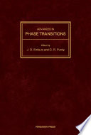 Advances in Phase Transitions