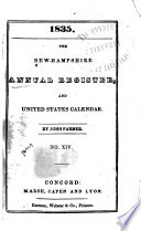 The New Hampshire Annual Register And United States Calendar