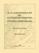 72.–73. Jahresbericht des Sonnblick-Vereines für die Jahre 1974–1975